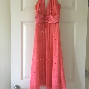 Pink Glittery Prom Dress with astonishing design